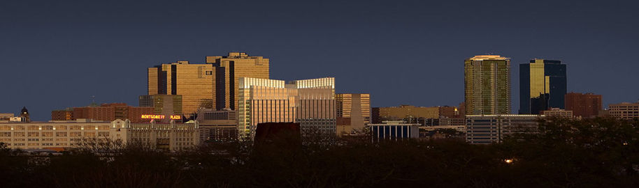Fort Worth Skyline at Sunset by longhorndave, on Flickr