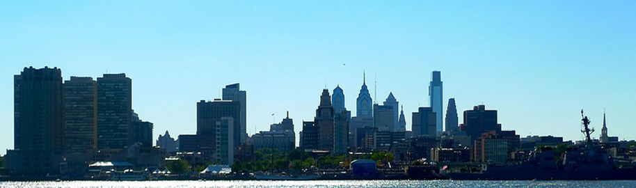 Philly skyline from Jersey by Yusuf C, on Flickr