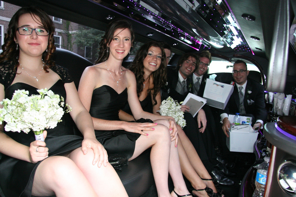 Bridal Party in the limousine by Blaise Alleyne, on Flickr