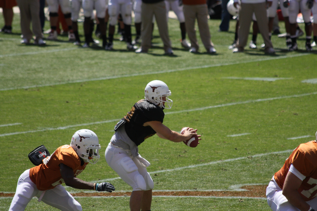 colt mccoy running the offense by aaronisnotcool, on Flickr
