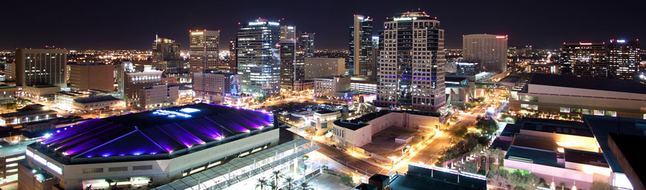 Downtown Phoenix Skyline Lights by Alan Stark, on Flickr