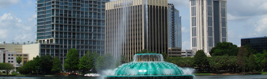 Fountain at Lake Eola by Chad Sparkes, on Flickr