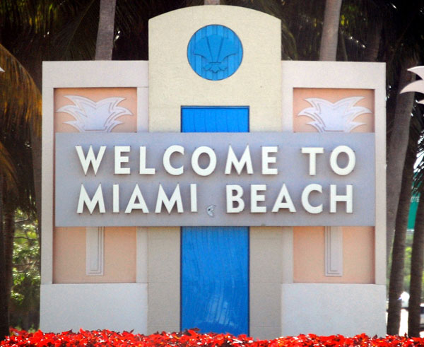 Miami Beach Welcome Sign by Mr Usaji, on Flickr