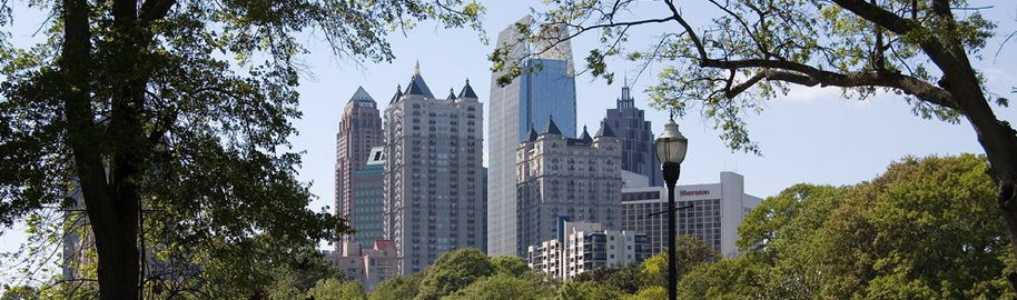 Midtown Atlanta from Piedmont Park by Mike Schinkel, on Flickr