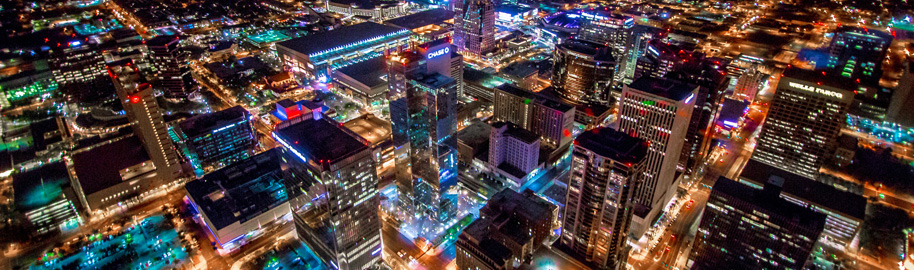 Phoenix Arizona Downtown Night Aerial Photo from Helicopter by Jerry Ferguson, on Flickr