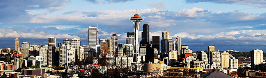Seattle Skyline Panorama by Joe Wolf, on Flickr