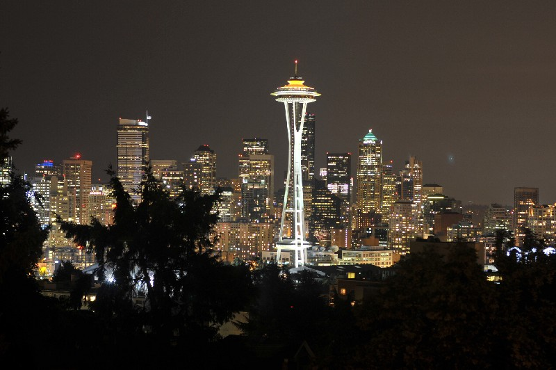 Space Needle from Queen Ann's Hill by Space Needle, on Flickr