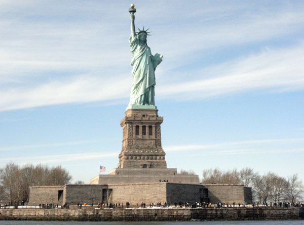 Statue of Liberty as seen from the Hudson aboard a water taxi. by aa7ae, on Flickr