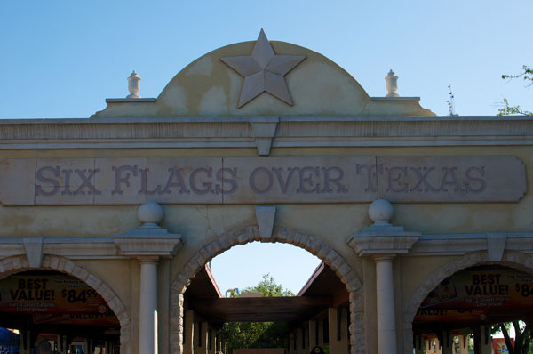 The Entrance to Six Flags Over Texas in Arlington by Bryan Kemp, on Flickr