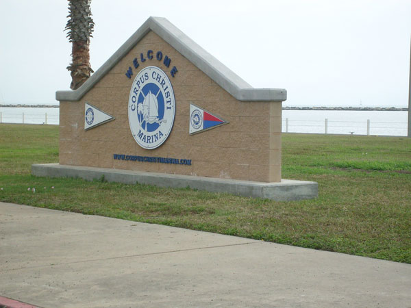 Welcome sign, Corpus Christi, Texas by Ted Gresham, on Flickr
